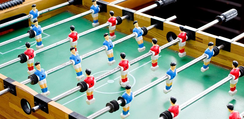 foosball table closeup